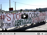 Protesta attivisti discarica di Bussi video