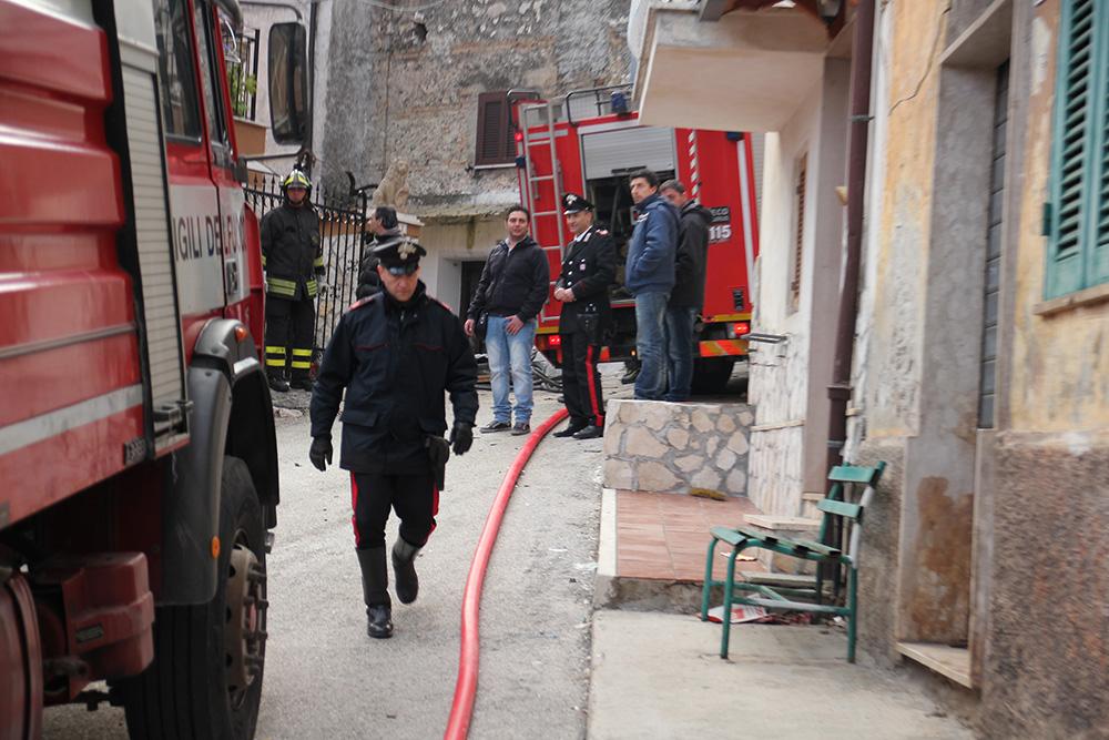 esplosione a Capistrello con una vittima fuga di gas (1)