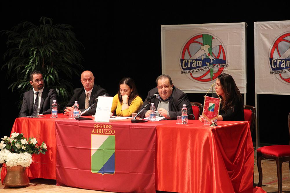 consiglio regionale abruzzesi el mondo Cram Berardinetti, Di Matteo, Angela Di Benedetto (2)