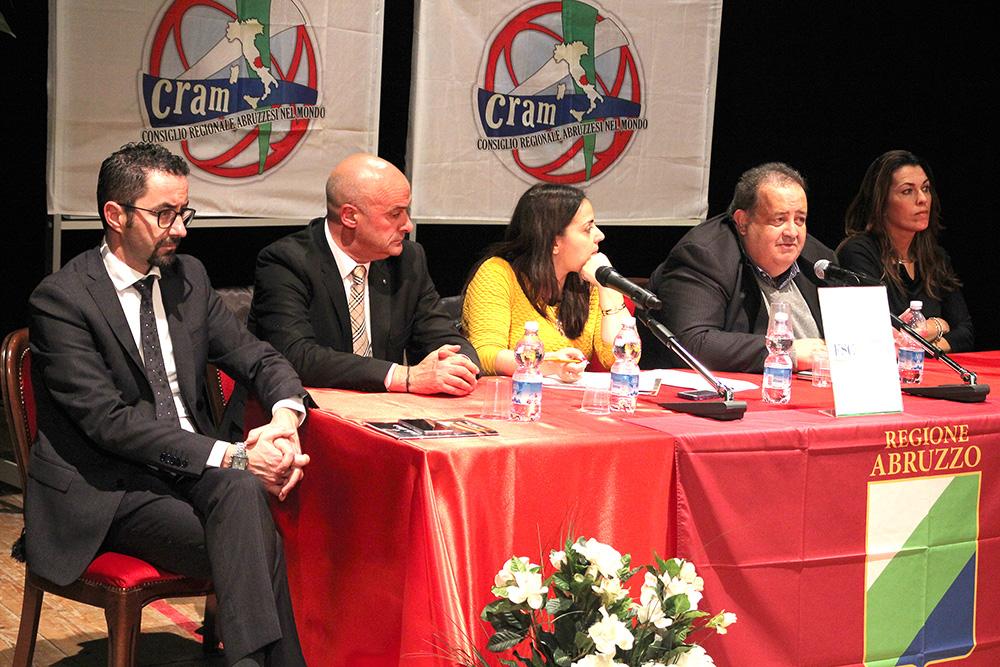 consiglio regionale abruzzesi el mondo Cram Berardinetti, Di Matteo, Angela Di Benedetto Smargiassi (1)