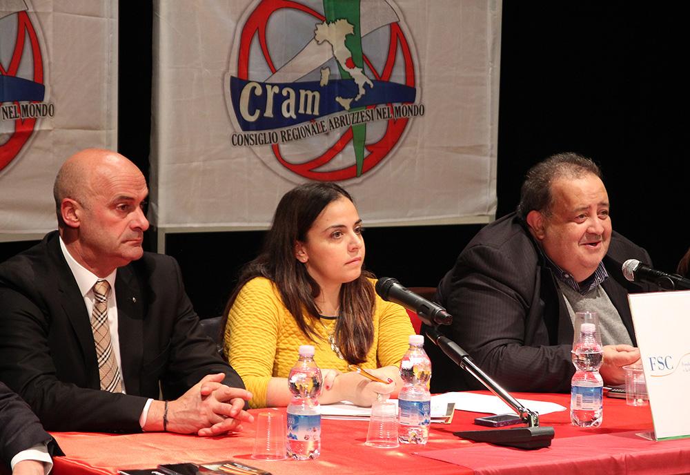 consiglio regionale abruzzesi el mondo Cram Berardinetti, Di Matteo, Angela Di Benedetto