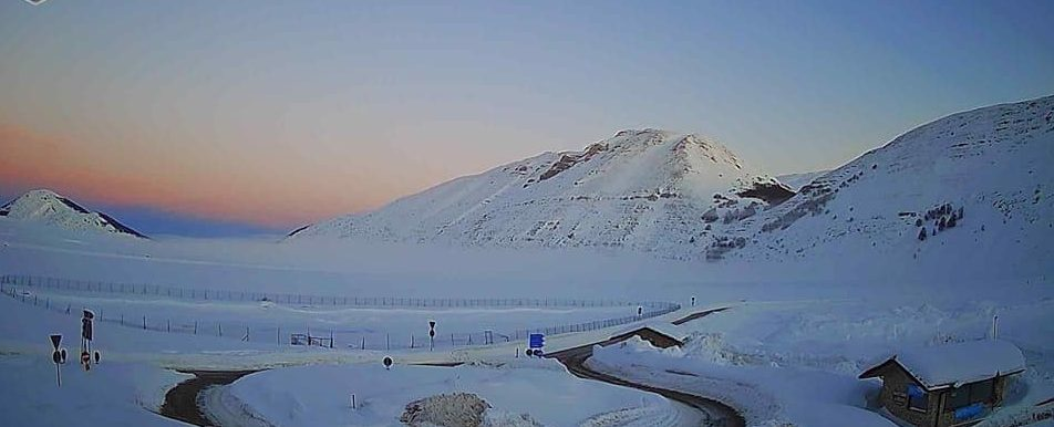 Inverno in Abruzzo, freddo intenso sugli altopiani. A Piani di Pezza minima di -27.9 gradi